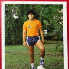 Coleccionismo deportivo: DIEGO ARMANDO MARADONA - TARJETA PUBLICITARIA DE AGFA CON DEDICATORIA IMPRESA. Lote 194957135