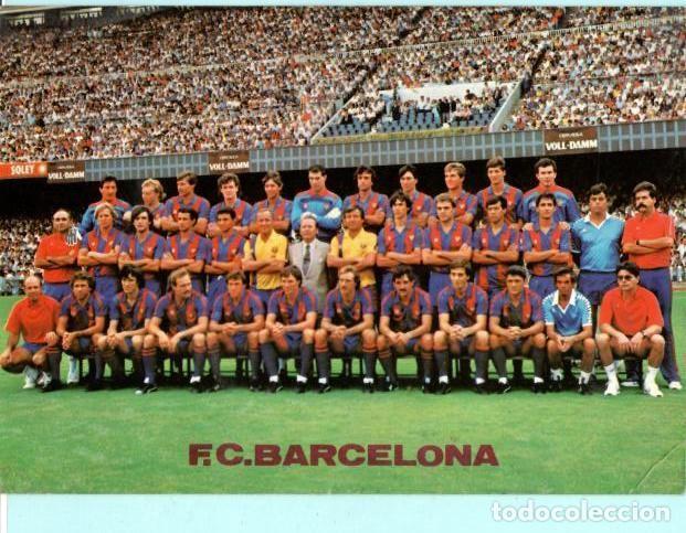 POSTAL DE PLANTILLA F, C. BARCELONA MEDIDAD 21+ 15 CENT SIN CIRCULAR (Coleccionismo Deportivo - Postales de Deportes - Fútbol)