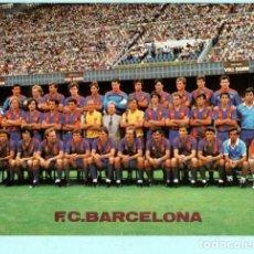 Coleccionismo deportivo: POSTAL DE PLANTILLA F, C. BARCELONA MEDIDAD 21+ 15 CENT SIN CIRCULAR . Lote 195125190
