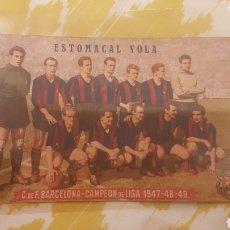 Coleccionismo deportivo: POSTAL BARÇA ESTOMACAL YOLA EN PERFECTO ESTADO AÑO 1947. Lote 195152605