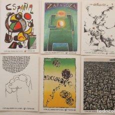 Coleccionismo deportivo: 6 POSTALES MUNDIAL ESPAÑA 82 MIRÓ CHILLIDA. Lote 195373312