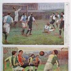 Coleccionismo deportivo: 2 POSTALES DE FÚTBOL INGLESAS. Lote 195409591
