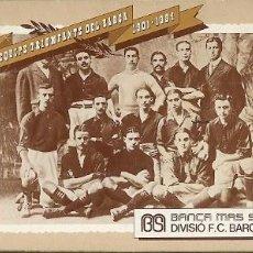 Coleccionismo deportivo: LIBRITO CON 15 FOTOS POSTALES DEL EQUIPO C F BARCELONA BARÇA EDITADO POR BANCA MAS SARDA. Lote 195473101