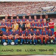 Coleccionismo deportivo: POSTAL F.C. BARCELONA 1984-85. Lote 195544018