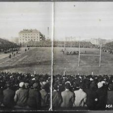 Coleccionismo deportivo: POSTAL PANORÁMICA DOBLE * ESTADIO MARSHALL FIELD FOOTBALL GAME - CHICAGO * AÑO 1909. Lote 195711890