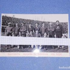 Coleccionismo deportivo: ANTIGUA FOTO POSTAL DE FUTBOL BARCELONA CAMPEON DE CATALUÑA AÑO 1932 EN EXCELENTE ESTADO ORIGINAL. Lote 195757612