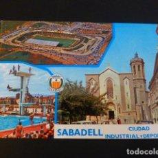 Coleccionismo deportivo: SABADELL BARCELONA CIUDAD INDUSTRIAL Y DEPORTIVA CAMPO ESTADIO DE FUTBOL. Lote 196035431
