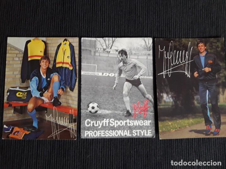 TARJETON PUBLICIDAD TIENDA CRUYFF (Coleccionismo Deportivo - Postales de Deportes - Fútbol)