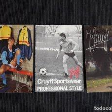 Coleccionismo deportivo: TARJETON PUBLICIDAD TIENDA CRUYFF. Lote 196171762