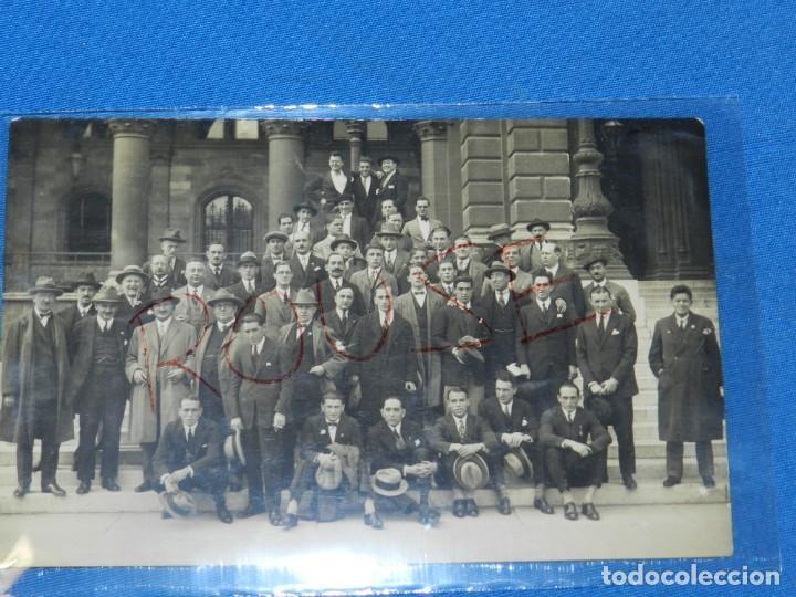 Coleccionismo deportivo: POSTAL ORIGINAL EQUIPO NACIONAL ESPAÑOL EN VIENA - RICARDO ZAMORA, JOSÉ SAMITIER - Foto 2 - 196188837