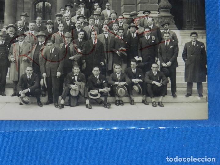 Coleccionismo deportivo: POSTAL ORIGINAL EQUIPO NACIONAL ESPAÑOL EN VIENA - RICARDO ZAMORA, JOSÉ SAMITIER - Foto 4 - 196188837