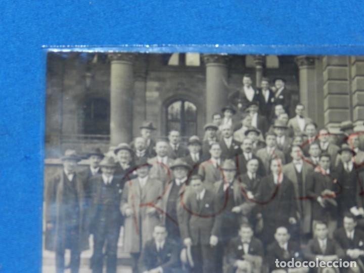 Coleccionismo deportivo: POSTAL ORIGINAL EQUIPO NACIONAL ESPAÑOL EN VIENA - RICARDO ZAMORA, JOSÉ SAMITIER - Foto 5 - 196188837