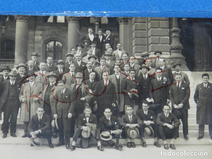 Coleccionismo deportivo: POSTAL ORIGINAL EQUIPO NACIONAL ESPAÑOL EN VIENA - RICARDO ZAMORA, JOSÉ SAMITIER - Foto 7 - 196188837