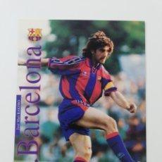 Collectionnisme sportif: JOSE MARI BAKERO FC BARCELONA BARÇA POSTAL PUBLICITARIA KAPPA 1996 1997. Lote 196640675