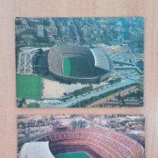 Coleccionismo deportivo: PAREJA DE POSTALES DEL ESTADIO CAMP NOU, FUTBOL CLUB BARCELONA. Lote 196975315