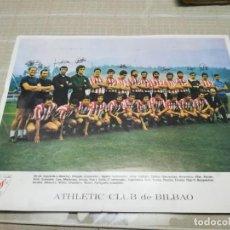 Coleccionismo deportivo: RARA FOTO POSTAL CON FIRMAS IMPRESAS DEL ATHLETIC CLUB DE BILBAO MIREN FOTOS. Lote 197253736