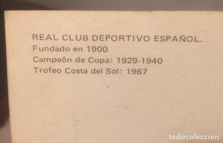 Coleccionismo deportivo: Postal RCD Español años 70 - Foto 2 - 197671336
