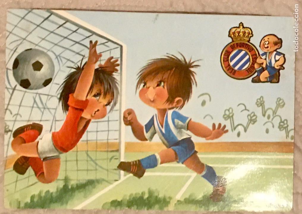 POSTAL RCD ESPAÑOL AÑOS 70 (Coleccionismo Deportivo - Postales de Deportes - Fútbol)