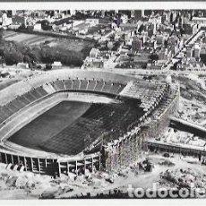 Colecionismo desportivo: POSTAL AÑO 1957 * FUTBOL CLUB BARCELONA - NUEVO CAMPO EN CONSTRUCCIÓN*. Lote 198504052
