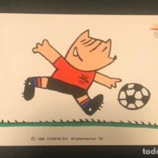 Coleccionismo deportivo: POSTAL COBI FUTBOL JUEGOS OLIMPICOS BARCELONA 1992 - NUEVA. Lote 198508363