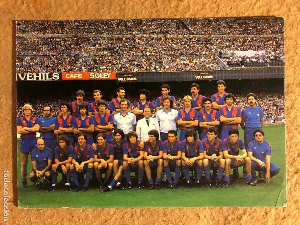 F.C. BARCELONA. POSTAL SIN CIRCULAR TEMPORADA 1982/83. MARADONA. (Coleccionismo Deportivo - Postales de Deportes - Fútbol)