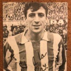 Coleccionismo deportivo: UFARTE (ATLÉTICO DE MADRID) TARJETA PUBLICITARIA PARA EL REFERENDUM DE 1966. SI A LA PAZ.. Lote 199052303