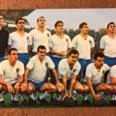 Coleccionismo deportivo: REAL ZARAGOZA. POSTAL SIN CIRCULAR BERGAS N° 17 (1966).. Lote 199052943