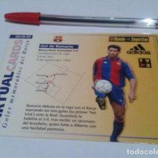 Coleccionismo deportivo: VIRTUAL CARDS GOLES MEMORABLES BARÇA HOLOGRAMA 13 GOL DE ROMARIO AL REAL SOCIEDAD ( 3 - 0 ) 1993. Lote 200080368