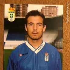 Coleccionismo deportivo: XABI ESKURZA (REAL OVIEDO). POSTAL SIN CIRCULAR AÑOS 90.. Lote 200591800