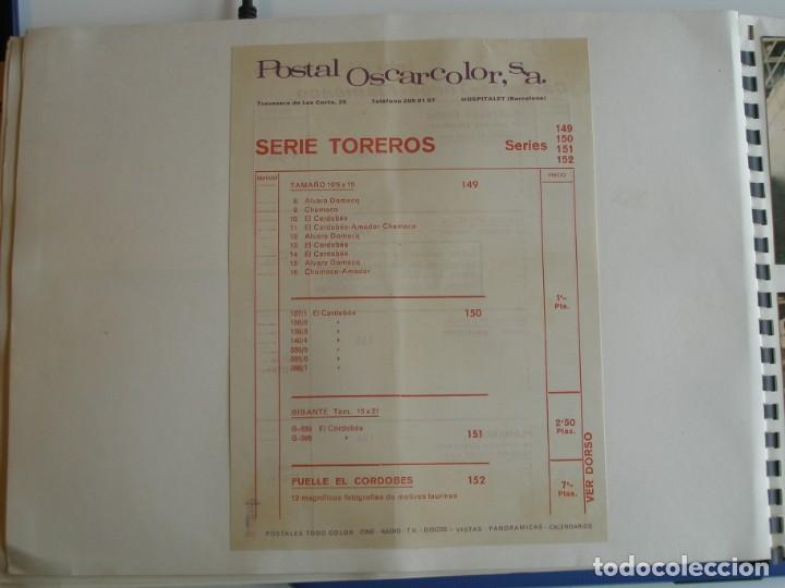 Coleccionismo deportivo: MUESTRARIO DE TARJETAS DE FUTBOL, TOROS ETC. DE LA CASA POSTAL OSCARCOLOR S.A. - Foto 15 - 202091047