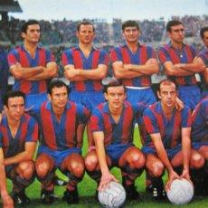 Coleccionismo deportivo: FC BARCELONA-EQUIPO DEL C.F. BARCELONA-VIS COLOR-POSTAL FUTBOL ANTIGUA-(69.206). Lote 202356336