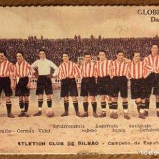 Coleccionismo deportivo: ATHLETIC CLUB DE BILBAO, CAMPEÓN DE ESPAÑA 1922-23. POSTAL SIN CIRCULAR COLECCIÓN BBK Y DEIA. Lote 202498450