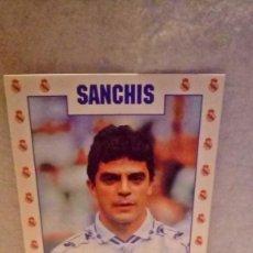Coleccionismo deportivo: POSTAL JUGADOR DEL REAL MADRID (SANCHIS) - AÑOS 90.. Lote 202908980