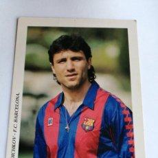 Coleccionismo deportivo: POSTAL F. C. BARCELONA HRISTO STOICHKOV 91/92. Lote 202992421