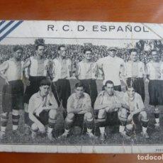 Coleccionismo deportivo: REAL CLUB DEPORTIVO ESPAÑOL POSTAL ORIGINAL MUY ANTIGUA ALINEACION. Lote 203893083