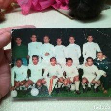 Coleccionismo deportivo: TARJETA POSTAS REAL MADRID PENTACAMPEON DE LA COPA DE EUROPA MIREN FOTOS PLASTIFICADA MIREN FOTOS. Lote 203947165