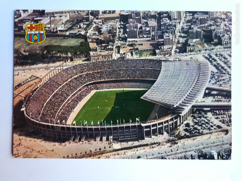 ESTADIO F.C. BARCELONA POSTAL (Coleccionismo Deportivo - Postales de Deportes - Fútbol)