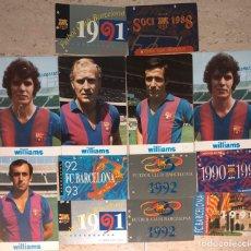 Coleccionismo deportivo: F.C.BARCELONA LOTE 5 POSTALES + 8 CARNÉS DE SOCIO AÑOS 1989/1993. Lote 205078395
