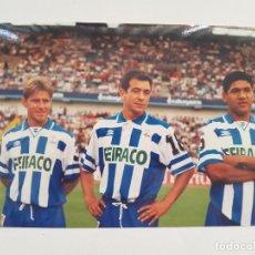 Coleccionismo deportivo: FOTOGRAFÍA ORIGINAL NANDO, CLAUDIO Y DONATO (DEPORTIVO DE LA CORUÑA). Lote 205403623