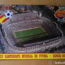 Coleccionismo deportivo: ANTIGUA POSTAL XII MUNDIAL FUTBOL - ESPAÑA 82 - NARANJITO - ESTADIO SANTIAGO BERNABEU - MADRID. Lote 205735861