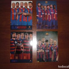 Collectionnisme sportif: LOTE 4 POSTALES JUGADORES FC BARCELONA. Lote 205815420