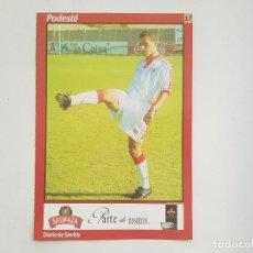 Coleccionismo deportivo: POSTAL / FICHA DE PODESTÁ (SEVILLA) DIARIO DE SEVILLA 16X24. Lote 205833453