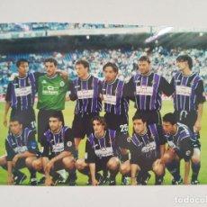 Coleccionismo deportivo: FOTOGRAFÍA ORIGINAL ALINEACIÓN REAL VALLADOLID (VÍCTOR, MARCOS, RICARDO,...). Lote 205836568