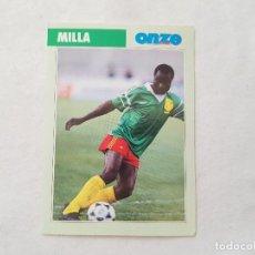 Coleccionismo deportivo: POSTAL ROGER MILLA - CAMERÚN (FICHA ONZE MONDIAL). Lote 205841423