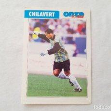 Coleccionismo deportivo: POSTAL CHILAVERT - REAL ZARAGOZA / PARAGUAY (FICHA ONZE MONDIAL). Lote 205841846