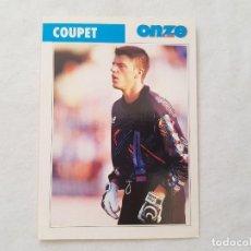 Coleccionismo deportivo: POSTAL DEL PORTERO COUPET - LYON, ATLÉTICO DE MADRID, FRANCIA (FICHA ONZE MONDIAL). Lote 205842246