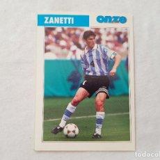 Coleccionismo deportivo: POSTAL JAVIER ZANETTI - INTER DE MILÁN, ARGENTINA (FICHA ONZE MONDIAL). Lote 205843555