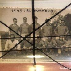 Coleccionismo deportivo: A CORUÑA EQUIPO DE FÚTBOL EL DORNEDA AÑO 1948 OLEIROS. MIDE 13,5 X 8,5 CMS. BIEN CONSERVADA.NIC. Lote 205853586