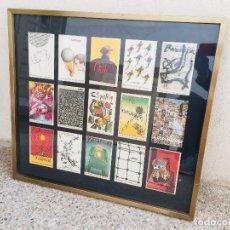 Coleccionismo deportivo: LOTE 15 POSTALES MUNDIAL 1982 ESPAÑA ENMARCADAS COLOR ORIGINALES 60X66CMS. Lote 206136828