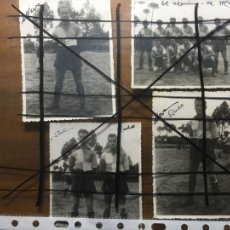 Coleccionismo deportivo: CORUÑA, 4 FOTOS EQUIPO DE FÚTBOL MARINO DE MERA,EQUIPO Y TRES JUGADORES. MIDEN 8 X 11 CMS. NIC. Lote 206188848